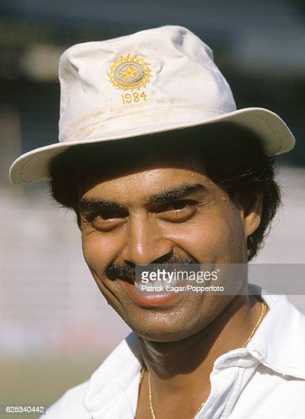 Dilip Vengsarkar of India before the 1st Test match between India and England at Wankhede Stadium Bombay India 27th November 1984