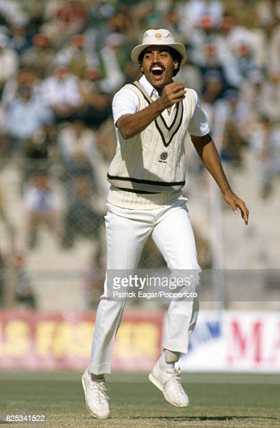Dilip Vengsarkar of India reacts in the field during the 2nd Test match between India and England at Feroz Shah Kotla Delhi India 15th December 1984