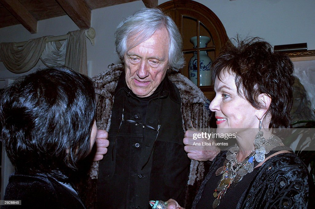 Dilling Yang, actor Jerry Spence and wife, Imaging Spence, socialize at the Charlize Theron tribute reception during the 2004 Santa Barbara International Film Festival February 3, 2004 in Santa Barbara, California.