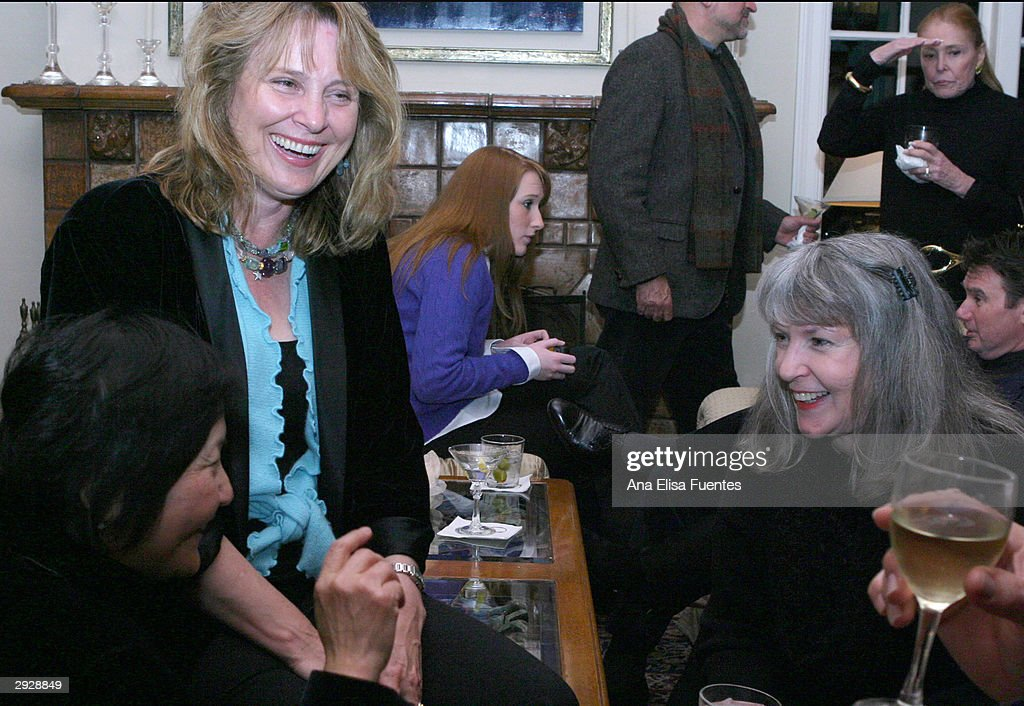 Dilling Yang, Holly Palance and author Sue Grafton socialize as they attend the Charlize Theron tribute reception during the 2004 Santa Barbara International Film Festival February 3, 2004 in Santa Barbara, California.