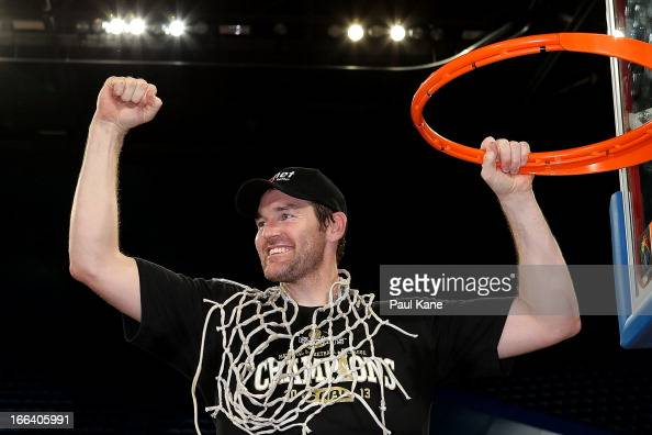 Dillon Boucher of the Breakers celebrate after winning the NBL Championship during game two of the NBL Grand Final series between the Perth Wildcats...