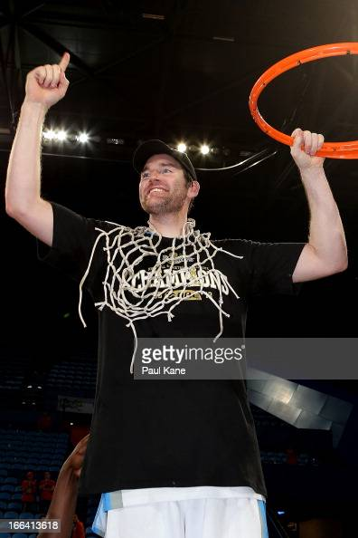 Dillon Boucher of the Breakers celebrates after winning the NBL Championship during game two of the NBL Grand Final series between the Perth Wildcats...