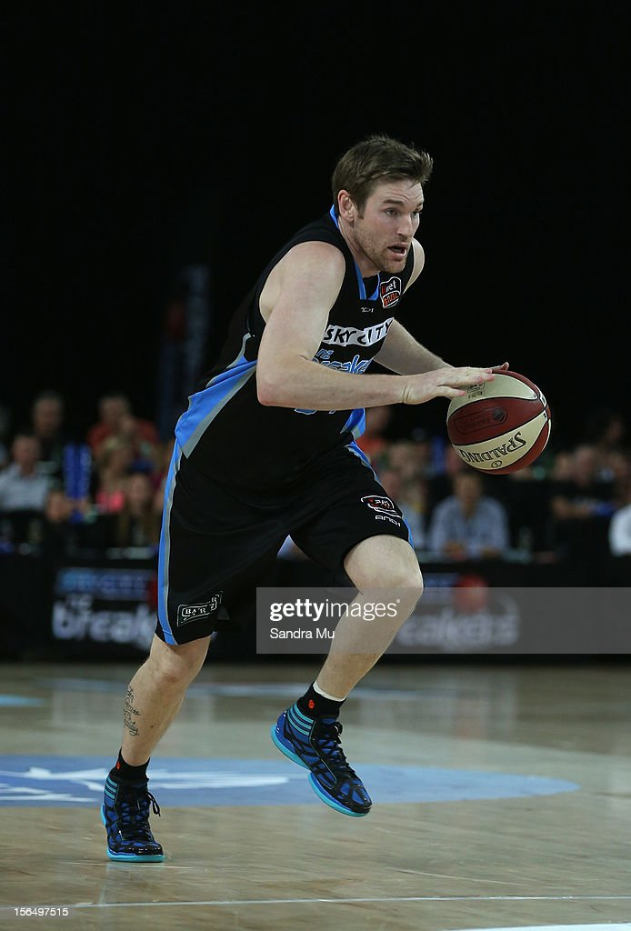 Dillon Boucher of the Breakers in action during the round seven NBL match between the New Zealand Breakers and the Townsville Crocodiles at Vector...
