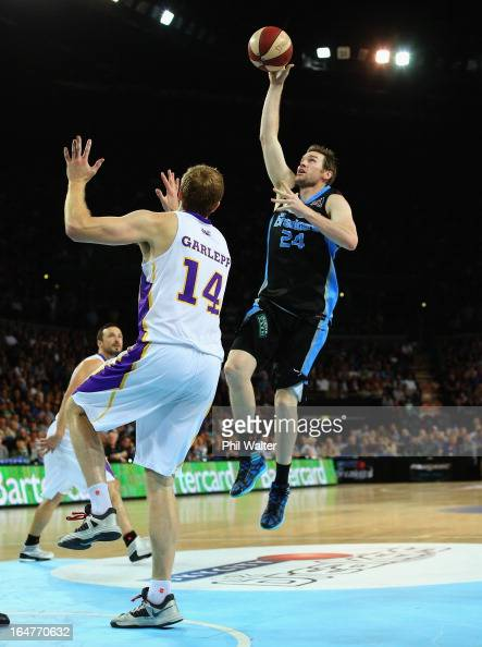 Dillon Boucher of the Breakers lays up the ball during game one of the NBL Semi Final series between the New Zealand Breakers and the Sydney Kings at...