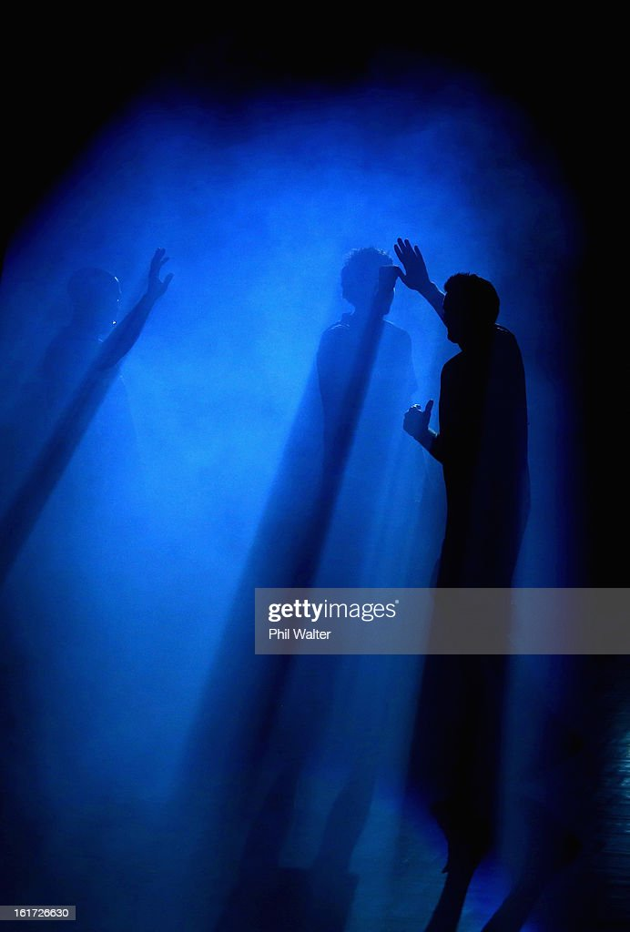 Dillon Boucher of the Breakers runs out onto the court before the round 18 NBL match between the New Zealand Breakers and the Wollongong Hawks at...