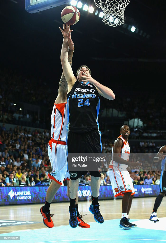 Dillon Boucher of the Breakers shoots during the round 11 NBL match between the New Zealand Breakers and the Cairns Taipans at Vector Arena on December 13, 2012 in Auckland, New Zealand.