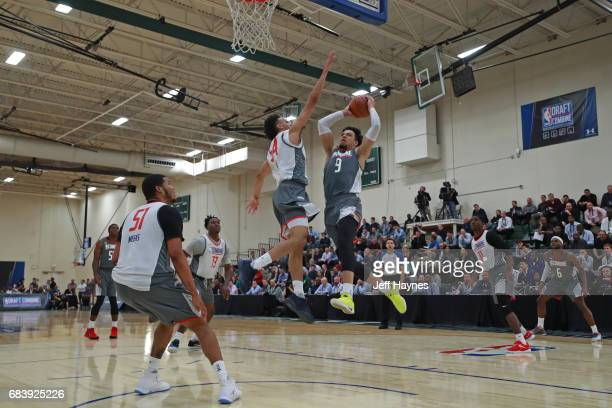 Dillon Brooks drives to the basket during the NBA Draft Combine Day 2 at the Quest Multisport Center on May 12 2017 in Chicago Illinois NOTE TO USER...