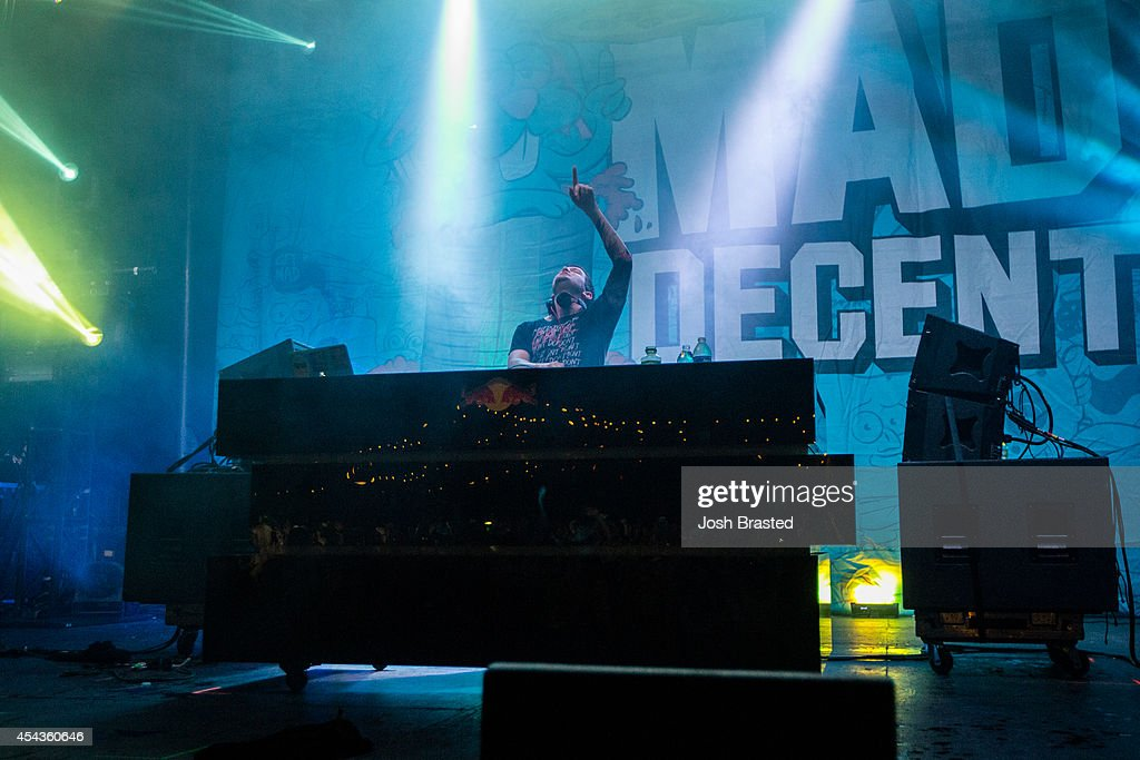 Dillon Francis performs at Mad Decent Block Party at Mardi Gras World on August 29, 2014 in New Orleans, Louisiana.