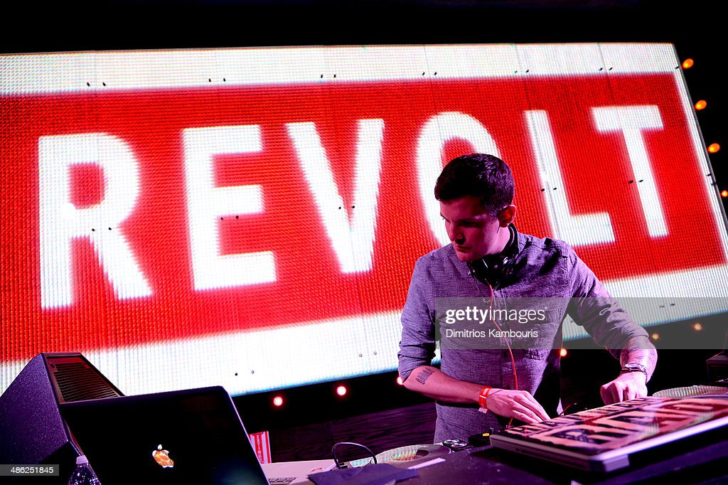 DJ Dillon Francis performs at REVOLT TV First Annual Upfront Presentation at Marquee on April 22, 2014 in New York City.