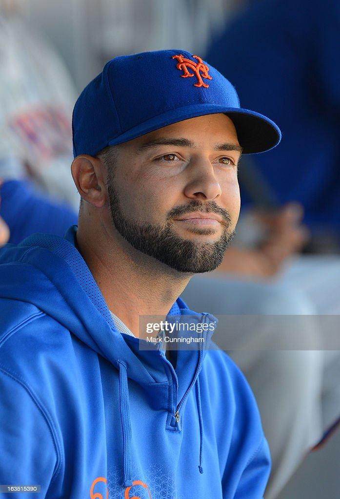 <a gi-track='captionPersonalityLinkClicked' href=/galleries/search?phrase=Dillon+Gee&family=editorial&specificpeople=5741589 ng-click='$event.stopPropagation()'>Dillon Gee</a> #35 of the New York Mets looks on from the dugout during the spring training game against the Detroit Tigers at Joker Marchant Stadium on March 8, 2013 in Lakeland, Florida. The Tigers defeated the Mets 3-2.