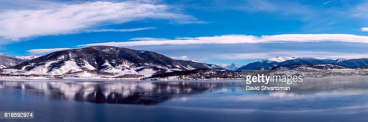 Dillon Lake on the sunny day, ready to freeze : Stock Photo