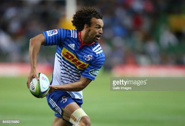 Dillyn Leyds during the Super Rugby match between DHL Stormers and Vodacom Bulls at DHL Newlands on February 25 2017 in Cape Town South Africa