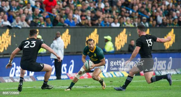 Dillyn Leyds of South Africa during the Rugby Championship 2017 match between South Africa and New Zealand at DHL Newlands on October 07 2017 in Cape...