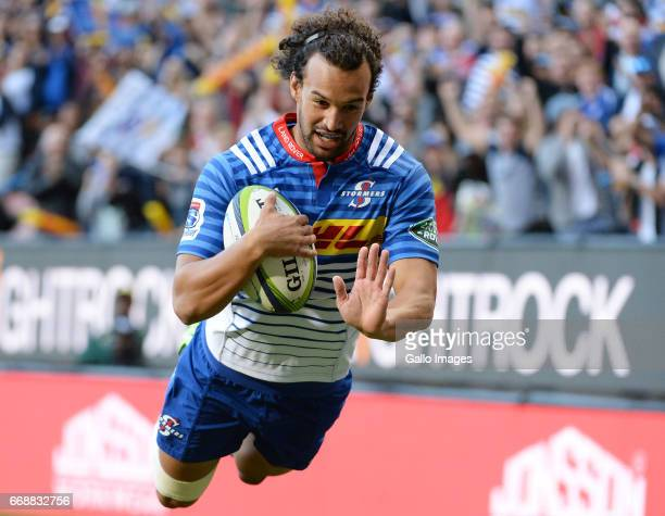 Dillyn Leyds of the Stormers during the Super Rugby match between DHL Stormers and Emirates Lions at DHL Newlands on April 15 2017 in Cape Town South...
