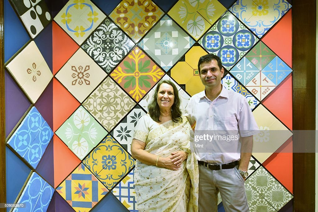Dilnavaz Variava (Chairperson) and Firdaus Variava (Vice Chairman) of the Bharat Floorings Group pose for a profile shoot on October 20, 2015 in Mumbai, India. Ever since it was established, in 1922, Bharat has been the first choice for discerning architects, conservators, interior decorators and clients, Bharat has long been the go-to place for high-quality tiles.