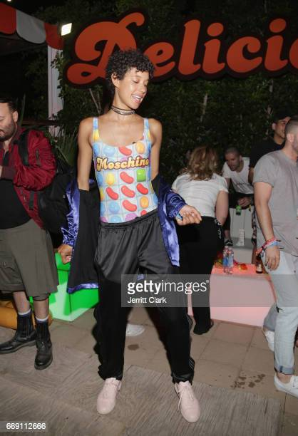 Dilone attends the Moschino Candy Crush Desert Party hosted by Jeremy Scott on April 15 2017 in Coachella California
