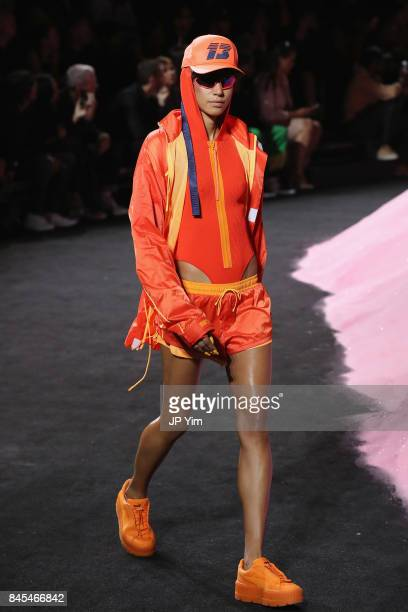 Dilone the runway wearing Look 26 at the FENTY PUMA by Rihanna Spring/Summer 2018 Collection at Park Avenue Armory on September 10 2017 in New York...