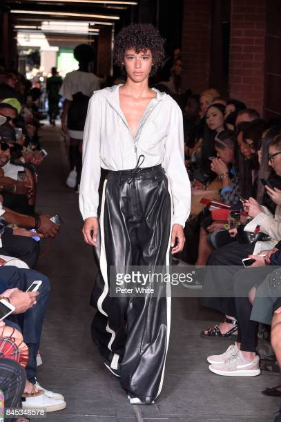 Dilone walks the runway at Public School show during New York Fashion Week on September 10 2017 in New York City
