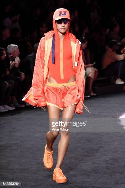 Dilone walks the runway at the Fenty Puma By Rihanna fashion show during New York fashion week at Park Avenue Armory on September 10 2017 in New York...
