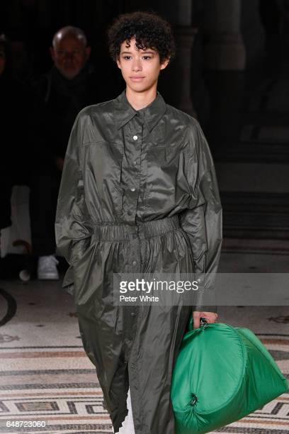 <<Dilone walks the runway during the Stella McCartney show as part of the Paris Fashion Week Womenswear Fall/Winter 2017/2018 >> on March 6 2017 in...