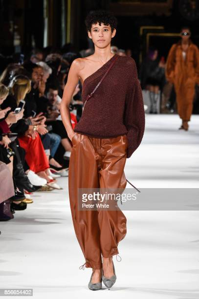 Dilone walks the runway during the Stella McCartney show as part of the Paris Fashion Week Womenswear Spring/Summer 2018 on October 2 2017 in Paris...