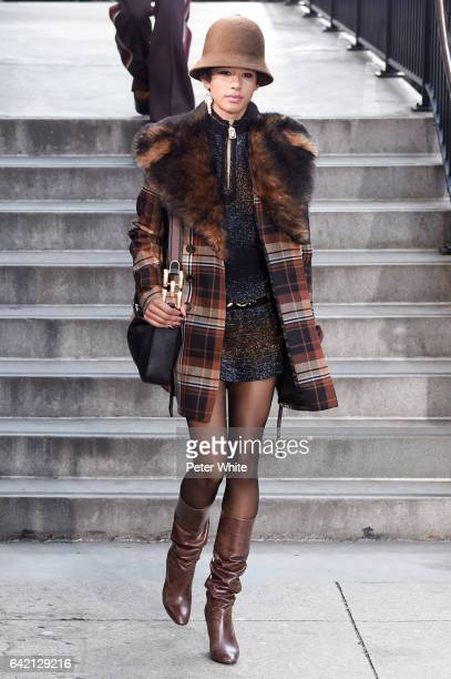 Dilone walks the runway for the Marc Jacobs Fall 2017 Show at Park Avenue Armory on February 16 2017 in New York City