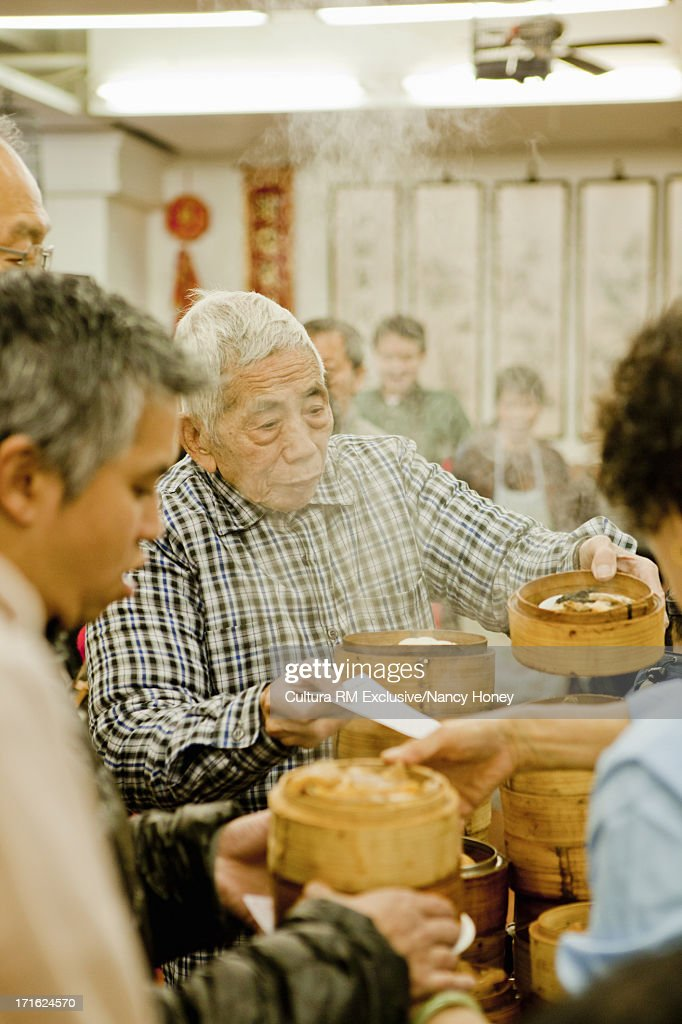 Dim sum restaurant, Hong Kong, China : Stock Photo
