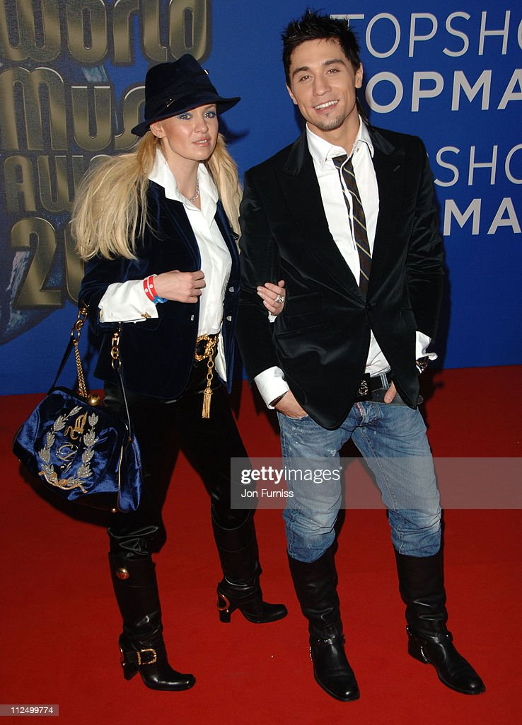 Dima Bilan (R) during World Music Awards 2006 - Inside Arrivals at Earls Court in London, United Kingdom.
