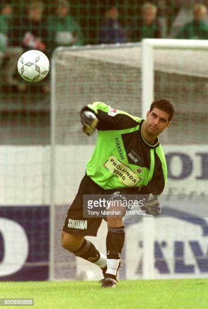 Dime Jankulovski Vastra Frolunda goalkeeper