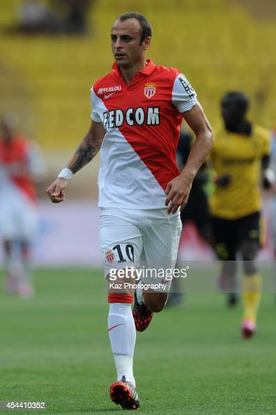 Dimitar Berbatov of Monaco in action during the French Ligue 1 match between AS Monaco FC and LOSC Lille at Louis II Stadium on August 30 2014 in...