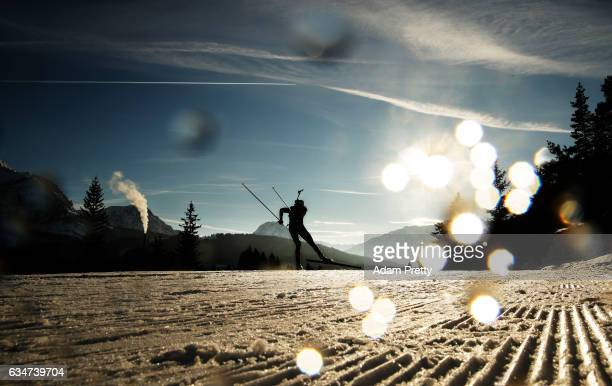 Dimitar Gerdzhikov of Bulgaria in action during the men's 10km sprint competition of the IBU World Championships Biathlon 2017 at the Biathlon...