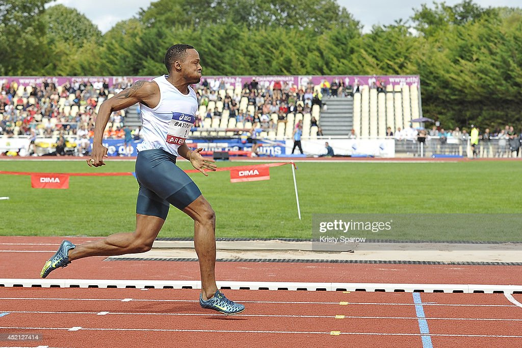 <a gi-track='captionPersonalityLinkClicked' href=/galleries/search?phrase=Dimitri+Bascou&family=editorial&specificpeople=5949069 ng-click='$event.stopPropagation()'>Dimitri Bascou</a> competes in the 110 Meter Hurdles during the Championnats de France d'Athletisme Elite on July 13, 2014 in Reims, France.