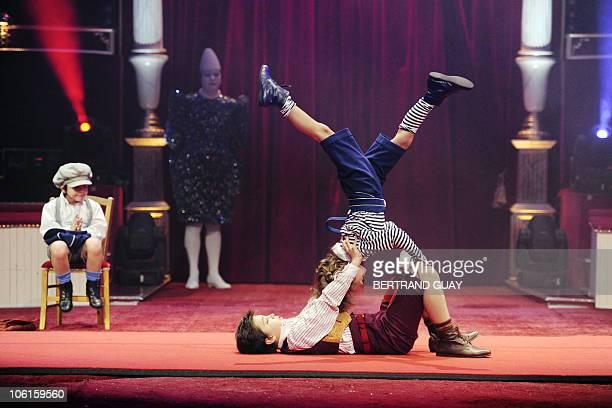 Dimitri Bouglione and Valentino TogniBouglione perform during the 'Prestige' Bouglione circus show at the Cirque d'Hiver in Paris on October 26 2010...