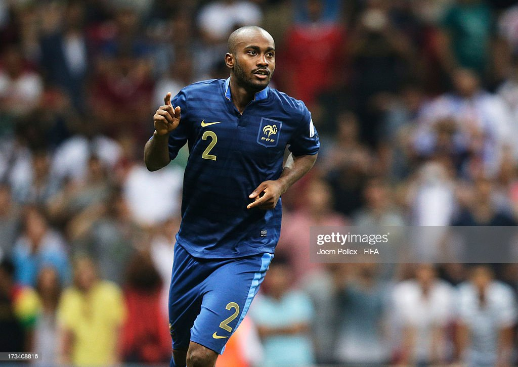 Dimitri Foulquier of France celebrates after scoring the winning goal during a shootout during the FIFA U-20 World Cup Final match between France and Uruguay at Ali Sami Yen Arena on July 13, 2013 in Istanbul, Turkey.