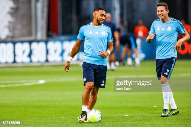 Dimitri Payet and Florian Thauvin of Marseille during the Ligue 1 match between Olympique Marseille vs Dijon FCO at Stade Velodrome on August 6 2017...