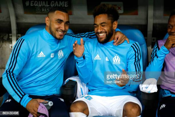 Dimitri Payet and Jordan Amavi of Marseille during the Europa League match between Olympique de Marseille and Vitoria Guimaraes SCat Stade Velodrome...