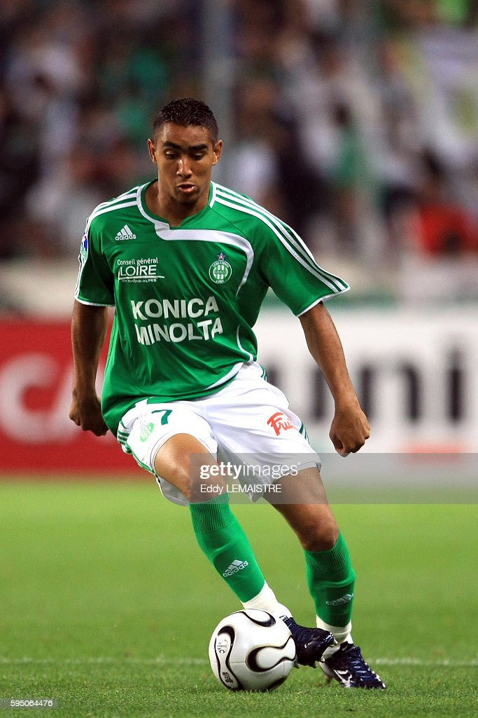Dimitri Payet during the French Ligue 1 soccer match between AS Saint Etienne and Girondins de Bordeaux | Location Saint Etienne France