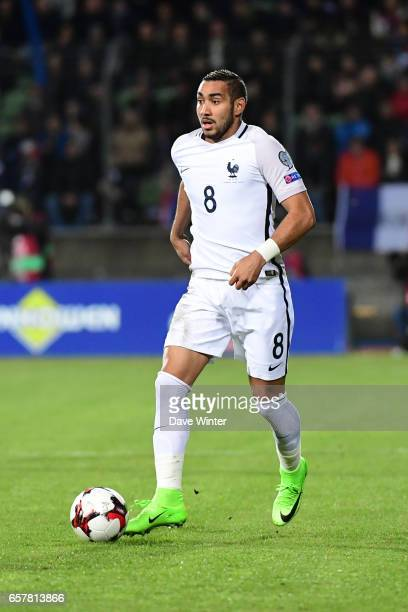 Dimitri Payet of France during the FIFA World Cup 2018 qualifying match between Luxembourg and France on March 25 2017 in Luxembourg Luxembourg