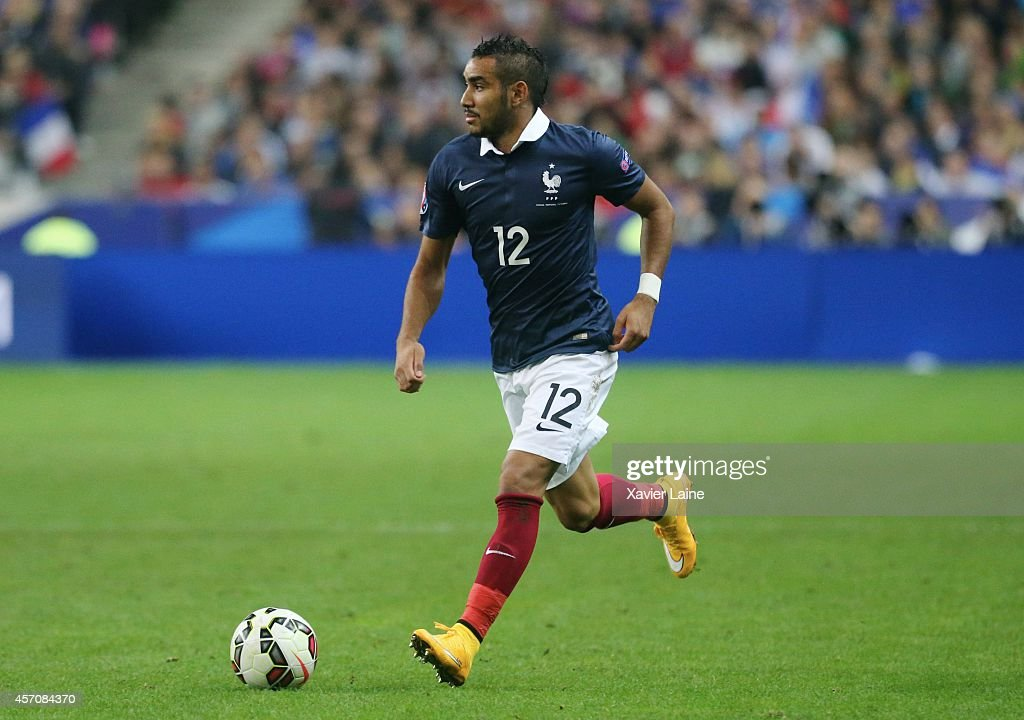 <a gi-track='captionPersonalityLinkClicked' href=/galleries/search?phrase=Dimitri+Payet&family=editorial&specificpeople=2137146 ng-click='$event.stopPropagation()'>Dimitri Payet</a> of France during the International Friendly Soccer match between France and Portugal at Stade de France on october 11, 2014 in Paris, France.