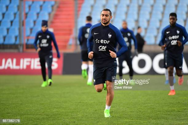 Dimitri Payet of France during the training session before the FIFA World Cup 2018 qualifying match between Luxembourg and France on March 24 2017 in...