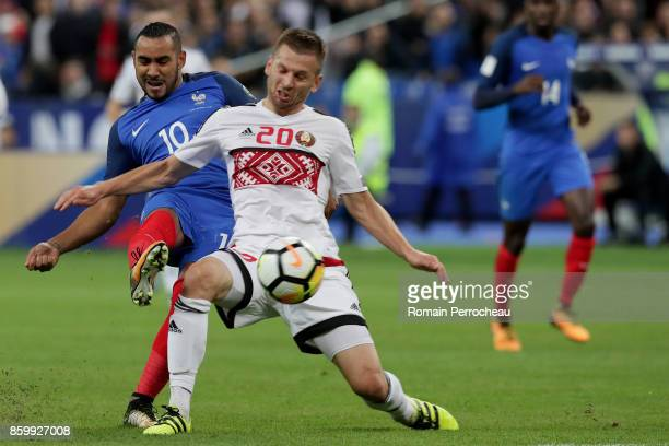 Dimitri Payet of France in action during the FIFA 2018 World Cup Qualifier between France and Belarus at Stade de France on October 10 2017 in Paris