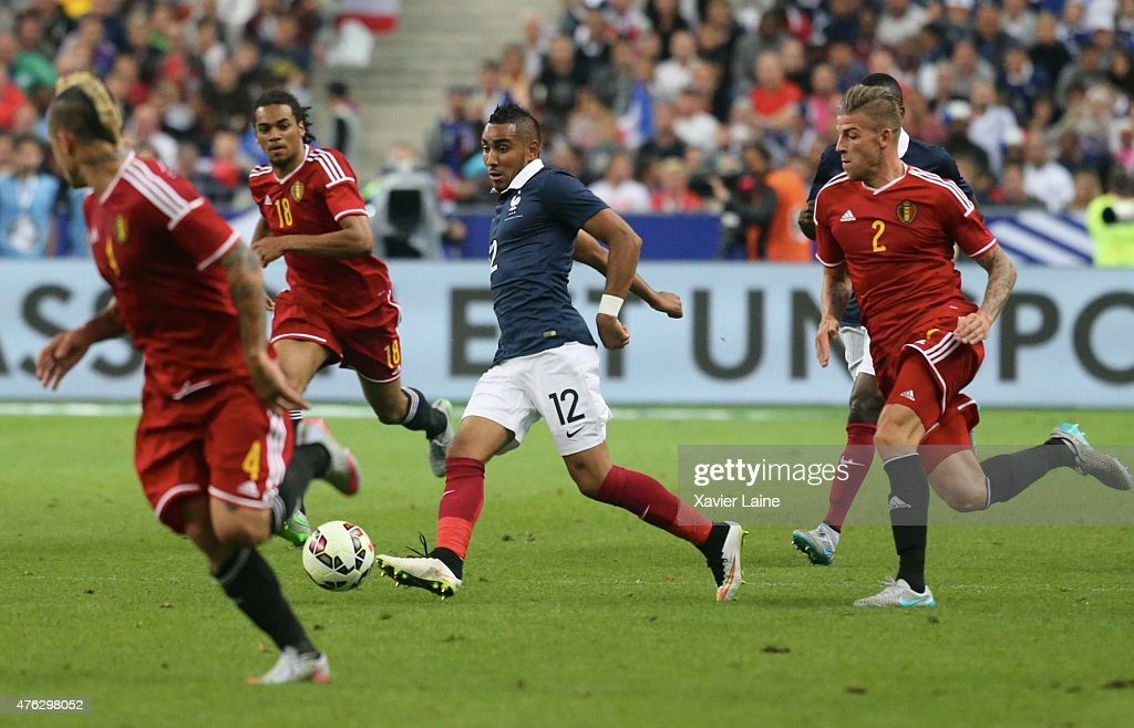 Dimitri Payet #12 of France in action during the International Friendly games between France and Belgium at Stade de France on june 7, 2015 in Paris, France.