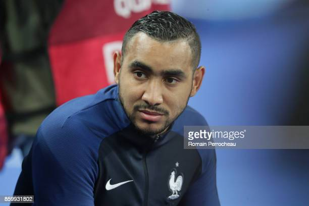 Dimitri Payet of France looks on before the FIFA 2018 World Cup Qualifier between France and Belarus at Stade de France on October 10 2017 in Paris