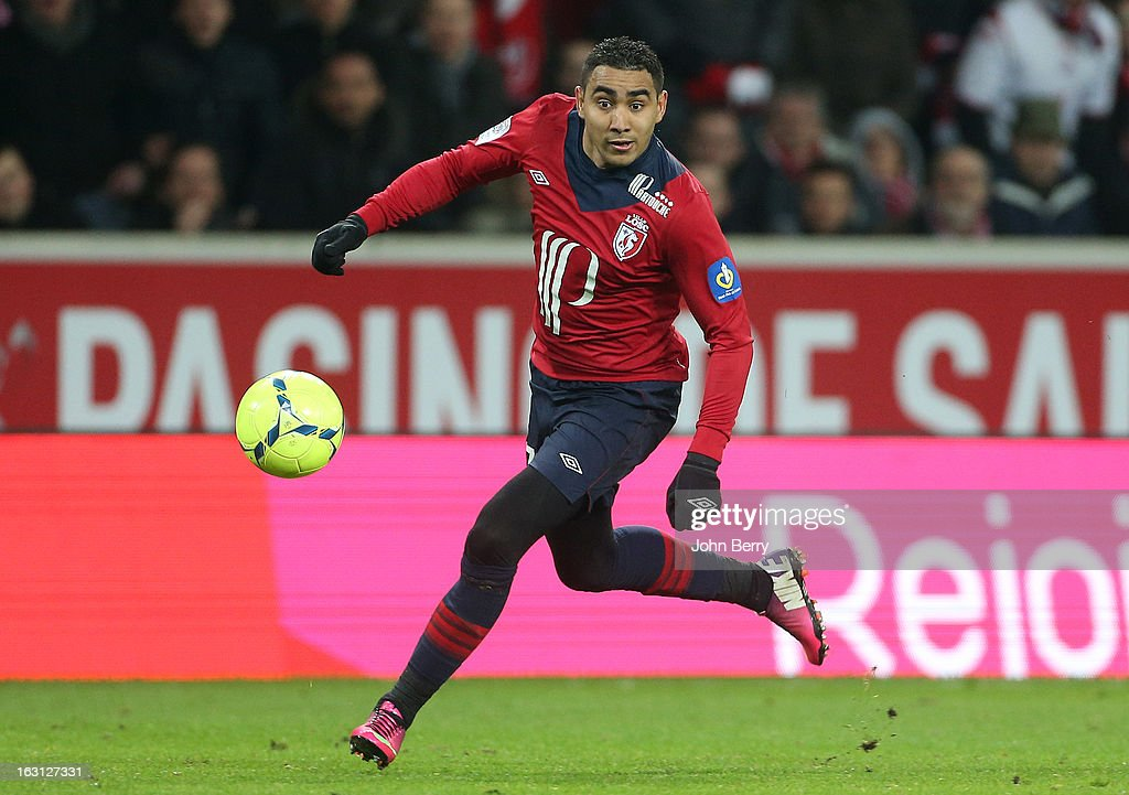 <a gi-track='captionPersonalityLinkClicked' href=/galleries/search?phrase=Dimitri+Payet&family=editorial&specificpeople=2137146 ng-click='$event.stopPropagation()'>Dimitri Payet</a> of Lille in action during the french Ligue 1 match between Lille LOSC and FC Girondins de Bordeaux at the Grand Stade Lille Metropole on March 3, 2013 in Lille, France.