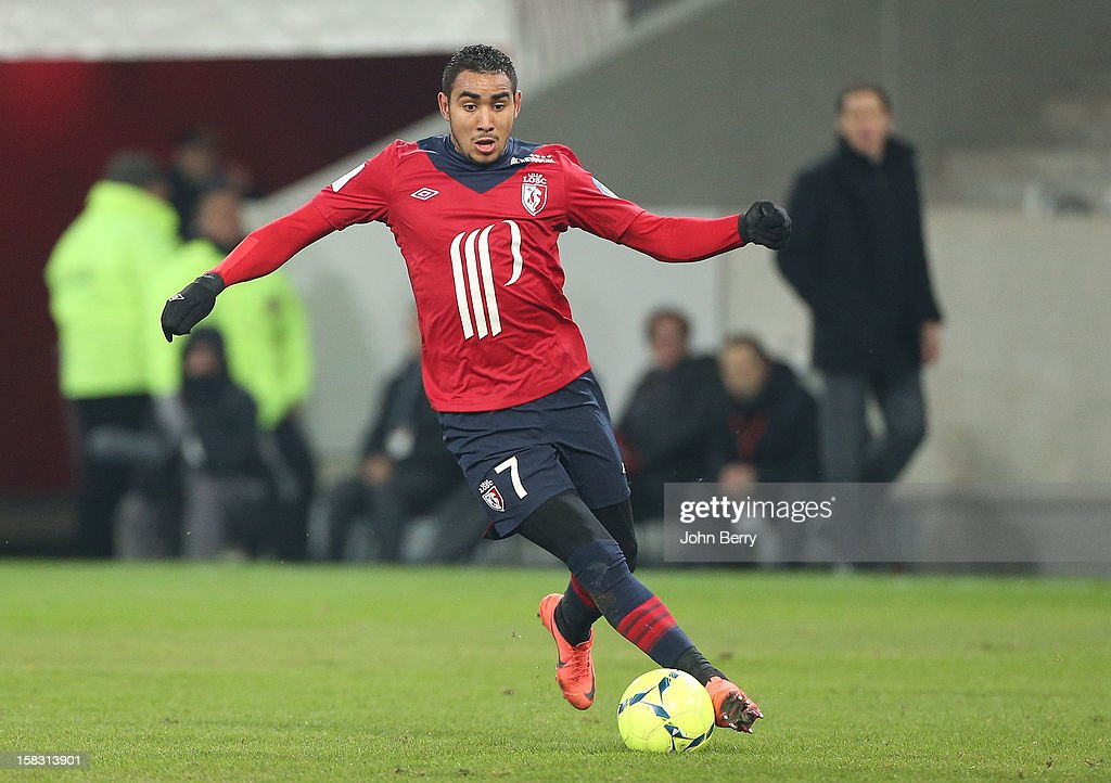 <a gi-track='captionPersonalityLinkClicked' href=/galleries/search?phrase=Dimitri+Payet&family=editorial&specificpeople=2137146 ng-click='$event.stopPropagation()'>Dimitri Payet</a> of LOSC in action during the French Ligue 1 match between Lille OSC and Toulouse FC at the Grand Stade Lille Metropole on December 11, 2012 in Lille, France.