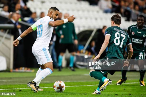 Dimitri Payet of Marseille during Europa League match between Olympique de Marseille and Konyaspor Kulubu at Stade Velodrome on September 14 2017 in...