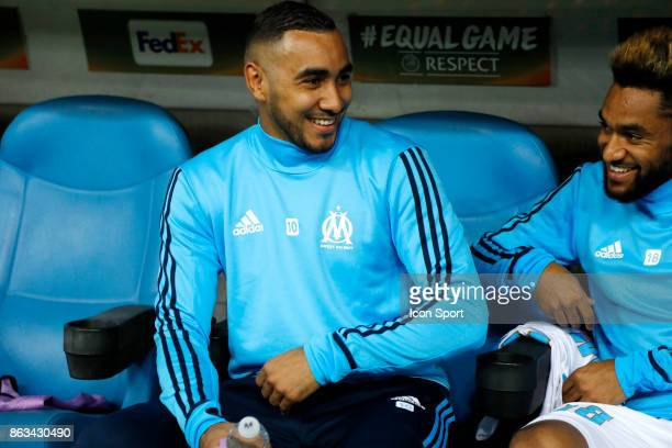 Dimitri Payet of Marseille during the Europa League match between Olympique de Marseille and Vitoria Guimaraes SCat Stade Velodrome on October 19...