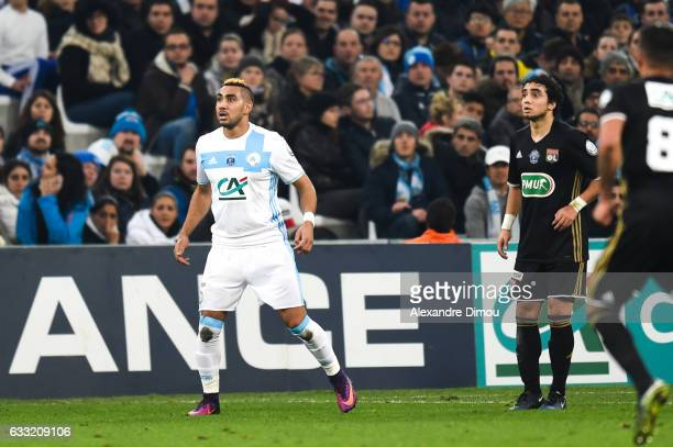 Dimitri Payet of Marseille during the french national cup match between Olympique de Marseille v Olympique Lyonnais Lyon Round of 32 at Stade...