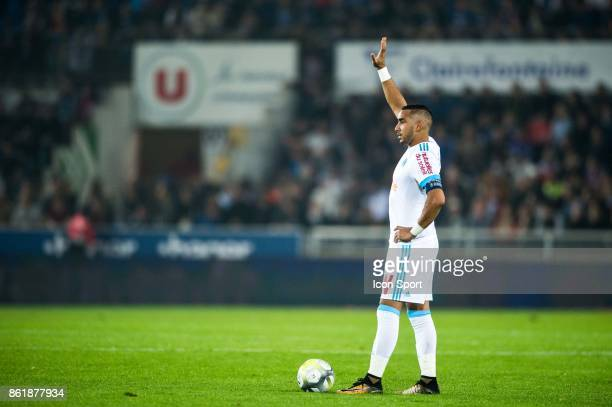 Dimitri Payet of Marseille during the Ligue 1 match between Strasbourg and Olympique Marseille at Stade de la Meinau on October 15 2017 in Strasbourg