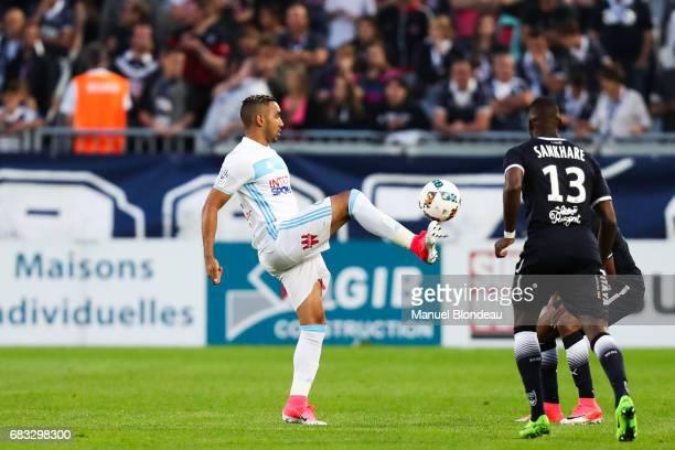 Dimitri Payet of Marseille during the Ligue 1 match between Girondins de Bordeaux and Olympique de Marseille at Nouveau Stade de Bordeaux on May 14...